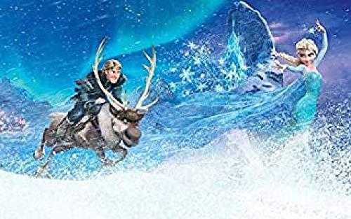 WOMGD® Anime-film Legpuzzel 1000 stukjes, Frozen Reindeer Houten puzzels, Educatief spel Stress Reliever Moeilijk Uitdagingsspeelgoed voor kinderen