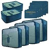 Confezione da 12 cubi organizzatori da viaggio con borsa portabiancheria, Viola (Viola) - MG-PC19-PL