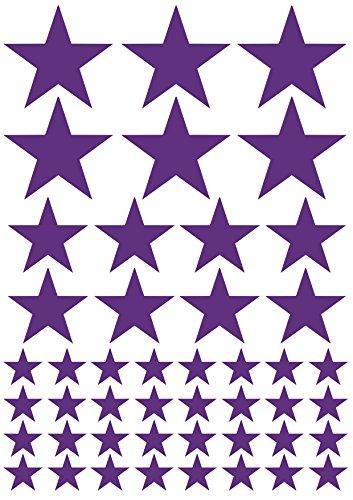 das-label 46 Sterne lila   Outdoor glänzend   unterschiedliche Größen   Valentinstag   Weihnachten   Muttertag   Scrapbook   Geburtstag   Geschenke   zum bekleben von Autos   Tüten   Geschenkkartons