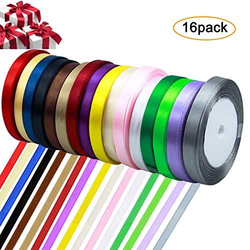 10 couleurs Mixte Pack de tressé Polyester Craft Ruban//Bande 50 mètres au total