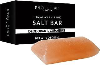 Evolution Salt - Deodorant/Cleansing Crystal Himalayan Salt Bar 9 oz 10-12 oz