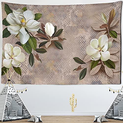 PPOU Gedruckte Tapisserie Blumen Grünpflanzen Wandbehang Hippie Mandala Tagesdecke Bohemian Artist Home Decor Tapisserie A7 130x150cm
