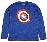 Marvel Capitán América Arma de Defensa Mens' Camiseta de Manga Larga (X-Large)