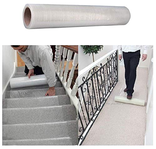 U-EXCEL Carpet Protector Roll. Clear Self Adhesive Protective Film - 600mm x 25m When Painting, Decorating Or Just Protecting Your Furniture Quality Protection.