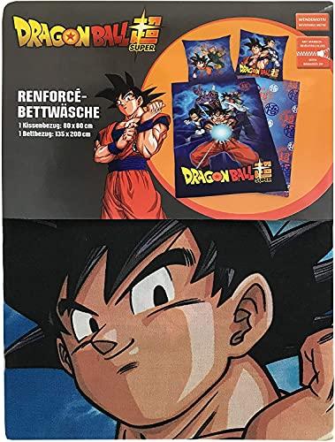 Dragon Ball Z Juego de funda nórdica de 140 x 200 cm y funda de almohada de 63 x 63 cm