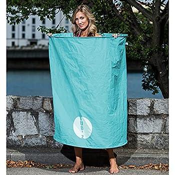 Linxor France ® Cabine de change et de douche pliable et transportable + sac de transport - Tub'z - Bleu - Norme CE