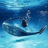 Fishawk Cuffie per Lettore MP3 Cuffie per conduzione ossea, Sport Acquatici Neri per Nuoto...