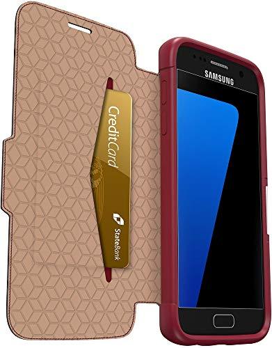 OtterBox Strada Etui Folio anti-choc en cuir pour Samsung Galaxy GS7 Rouge/Bordeaux