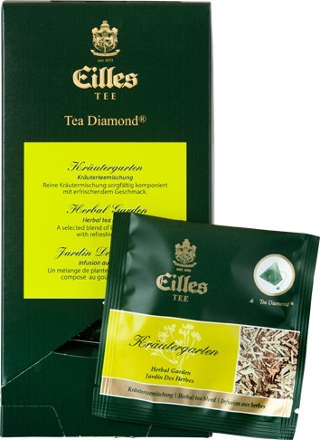 Eilles Luxury World Selection Tea Kräutergarten - 20 Tea Diamonds einzelverpackt