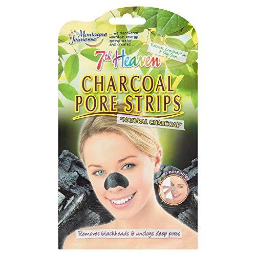 Montagne Jeunesse Charcoal Nose Pore Strips Woman, Verde, 21 g