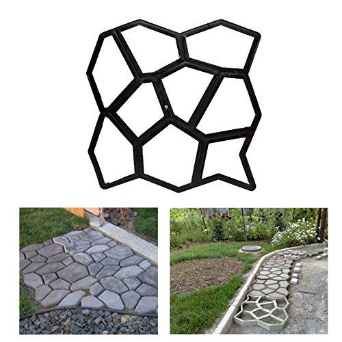 HG® D.I.Y Pflasterform Gehweg Betonpflaster Gießform Garten Schablone mit 9 Kammer 43 x 43 x 4cm