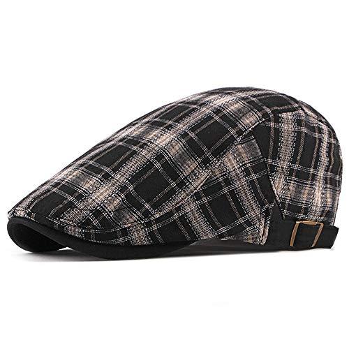 Lili Sombrero de Boina de Primavera y Verano para Mujer, Sombrero de Boina a Cuadros de Moda Coreana, Sombrero Informal Masculino con Lengua de Pato