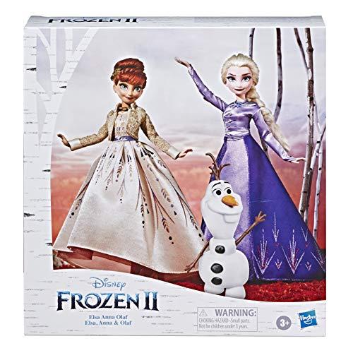 Disney La Reine des Neiges 2 - Poupées mannequins Elsa, Anna et Olaf
