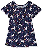 Moon and Back by Hanna Andersson Kids' Little Girls' Fashion Tee, Navy, 3