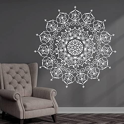 Mandala etiqueta de la pared Yoga Studio meditación habitación Mandala calcomanía pegatina Boho vinilo extraíble fondo adhesivo Mural 42x42cm