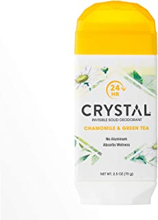 product image for CRYSTAL Invisible Solid Deodorant- Chamomile & Green Tea Body Deodorant, 24-Hour Odor Protection, Wetness Absorbing Non-Sticky Deodorant, Aluminium Chloride & Paraben Free, 2.5 FL OZ