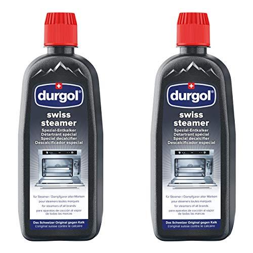 Durgol Swiss Steamer Spezial-Entkalker für hochwertige Steamer und Dampfgarer flüssig, 2er Set, 2 x 500 ml