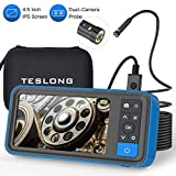 Best Camera Dual Lens - Dual-Cameras Borescope with Display, Teslong 4.5inch IPS Screen Review