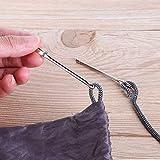 N\A Kit de Costura Bolsa Wrap Cuerda usando Accesorios de Costura de Ropa de Bricolaje 2 unids/Set de Acero Inoxidable Clips citados Cinturón elástico con Herramienta de Tejido de Cuerda
