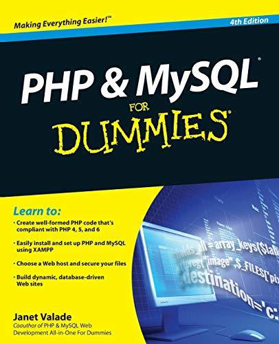 PHP & MySQL For Dummies(r), 4th Edition