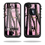 MightySkins Skin Compatible with Lifeproof iPhone 5s case - Pink Tree Camo | Protective, Durable, and Unique Vinyl Decal wrap Cover | Easy to Apply, Remove, and Change Styles | Made in The USA