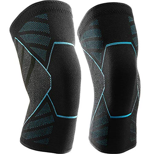 Knee Brace 2 Pack Knee Compression Sleeve for Knee Pain Fit for Men and Women - Non-Slip Knee...