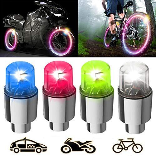 Tapa de válvula de neumático de coche 2 PCS Coche de aleación de aire Aleación de Aire Tinta Neumático Válvula Rueda Tallo Lámpara Lámpara Lámpara Flash Color Sensor Neumático Válvula Válvula Tapa Luz