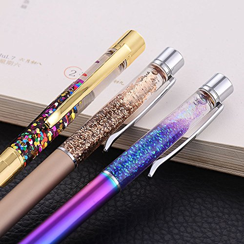 Pen Bling sets Pen Rhinestones Crystal Metal Ballpoint Pens Fine Black Ink Office Supplies(package of 4) Photo #7