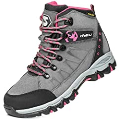WATERPROOF & BREATHABLE: Made from suede leather and breathable mesh, Foxelli hiking boots for women are designed to make your outdoor outings even more pleasant. KingTex waterproof membrane seals out any moisture and keeps the feet nice and dry even...