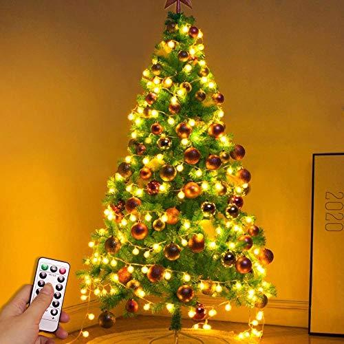 Guirnalda de luces de hadas navideñas LED globo de luz luces de cadena hogar interior impermeable cadena de luces usb 10m100 leds