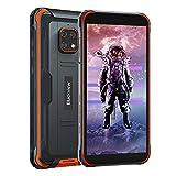 Móvil Resistente 4G, Blackview BV4900 Android 10 Impermeable Smartphone IP68, 5.7' HD+, Batería 5580mAh, 32GB+3GB (SD 128GB), 8MP+5MP, Teléfono Robusto, Dual SIM,GPS,NFC,OTG- Naranja