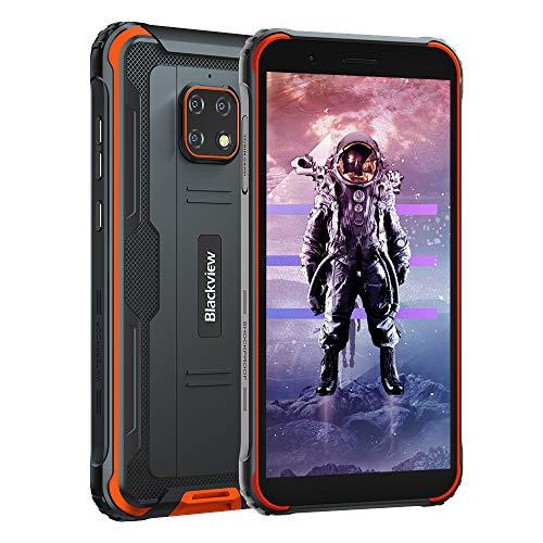 "Móvil Resistente 4G, Blackview BV4900 Android 10 Impermeable Smartphone IP68, 5.7"" HD+, Batería 5580mAh, 32GB+3GB (SD 128GB), 8MP+5MP, Teléfono Robusto, Dual SIM,GPS,NFC,OTG- Naranja"