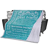 Funny Best Friend Blanket - Funny Birthday Gifts for Women - Fun Gag...