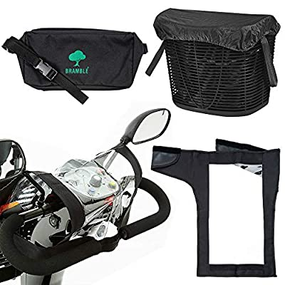 Bramble - Mobility Scooter Accessory Set - Tiller Cover, Bag, Basket Liner & Lid
