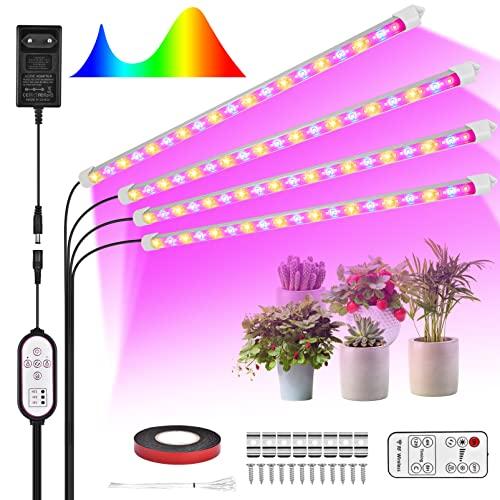 Pflanzenlampe LED Vollspektrum Grow Lampe - 216 LEDs Pflanzenlicht IP65 Wasserdicht Pflanzen LED Streifen mit Auto Timer 10 Dimmbare Level Wachstumslampe für Zimmerpflanzen Bonsais