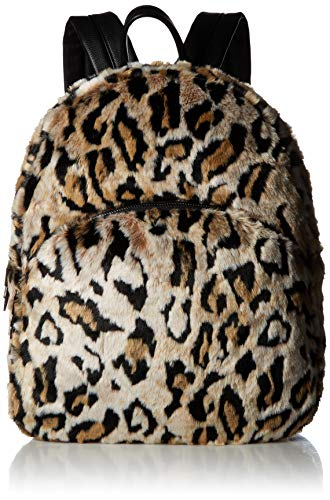 Betsey Johnson Faux Fur Backpack, Leopard
