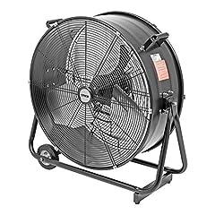 STIER trumma fläkt golv fläkt, mobil, 330W, 600mm, vind maskin, industrifläkt, inomhus fläkt