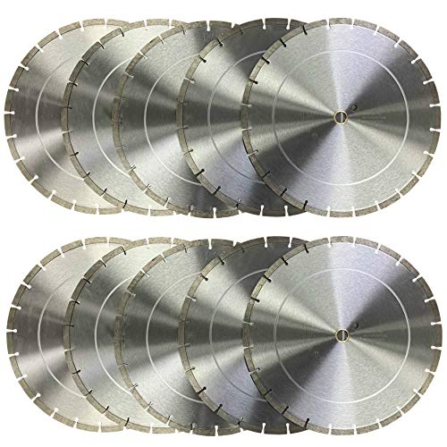 (10 PACK) CYCLONE 14 inch Dry or Wet Cutting General Purpose Segmented High Speed Diamond Saw Blades for Concrete Stone Brick Masonry (14' - 10 pcs)