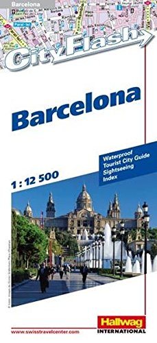 Barcelona City Flash 1:12 500: Waterproof, Tourist City Guide, Sightseeing, Index, Shopping