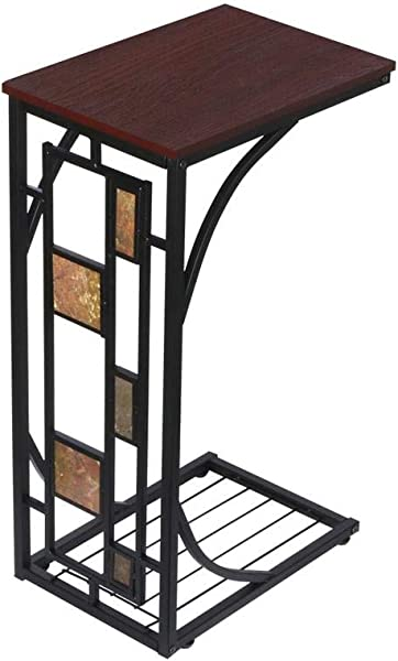Topeakmart C Shaped Side Sofa Snack Table Coffee Tray End Table Living Room Furniture