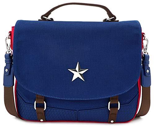Loungefly Captain America Crossbody Handbag End Game Hero offiziell Marvel Blau