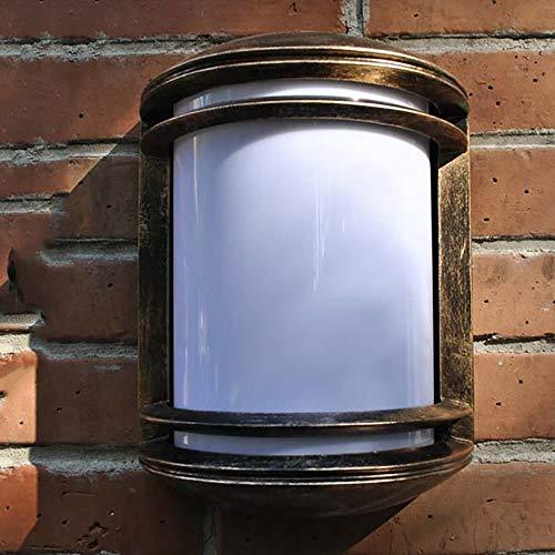 QJY Habitat Moderne Außenwandleuchte Glas-Wandleuchte for Außenhaus Porch Patio Deck - Türgeschäft Außenleuchten Wandleuchte Lampe (Color : Bronze)