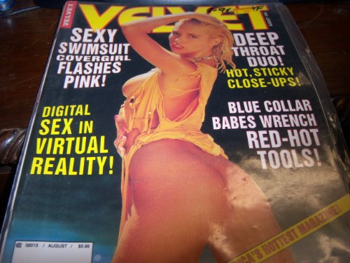 Velvet Adult Magazine August 1994 Sexy Swimsuit Covergirl Flashes Pink
