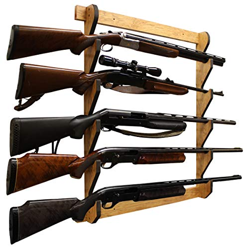 Rush Creek Creations Indoor 5 Rifle/Shotgun Wall Storage...