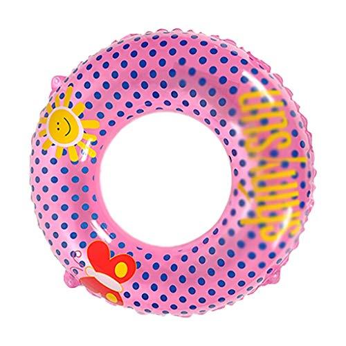 Gcxzb Fila Flotante Inflable Piscina Anillo Inflable Anillo de natación Verano Piscina Villa Rosa círculo Agua Parque niños Linda niña Adulto natación Vueltas (Size : 80)