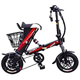 MEIYATU E-Bike - Folding Electric Bicycle with 15-18 Miles Range, E-Bike Scooter 250W Powerful Motor Collapsible Frame 36V