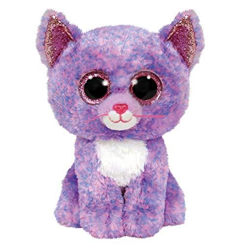 TY 2007521 Cassidy Cat Beanie Boo Stuffed Animal, Multicoloured
