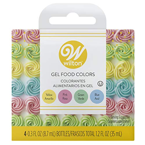 Wilton Gel Food Color Set (Pink, Yellow, Blue, Green)