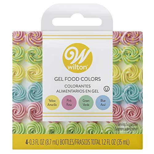 Wilton Gel Food Color Set (Pink, Yellow, Blue, Green)