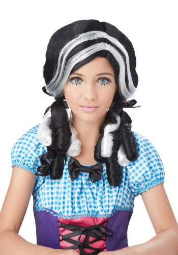 Black and White Doll Curls Wig